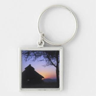 Africa, Ethiopia, Omo river region, Sunset over Key Ring