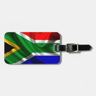 Africa flag luggage tag