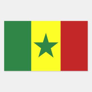 Africa: Flag of Republic of Senegal Rectangular Sticker
