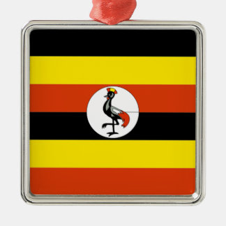 Africa: Flag of Uganda Christmas Ornament