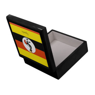 Africa: Flag of Uganda Large Square Gift Box