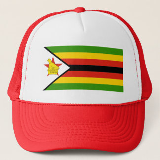 AFRICA: FLAG OF ZIMBABWE TRUCKER HAT