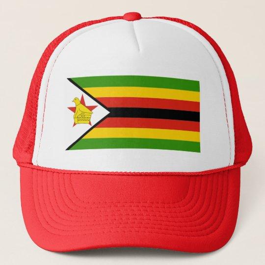 AFRICA: FLAG OF ZIMBABWE TRUCKER HAT