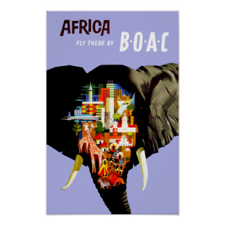 Africa ~ Fly There Poster