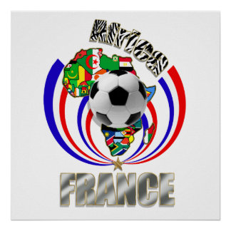 Africa France Soccer Ball Football Fans Gifts Poster