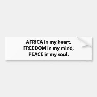Africa-free Bumper Sticker
