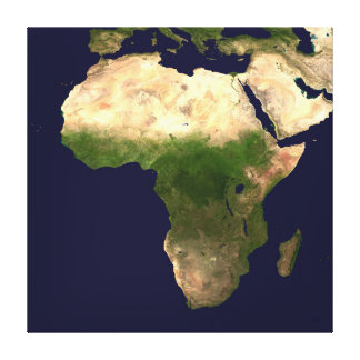 Africa from the Air Canvas Print