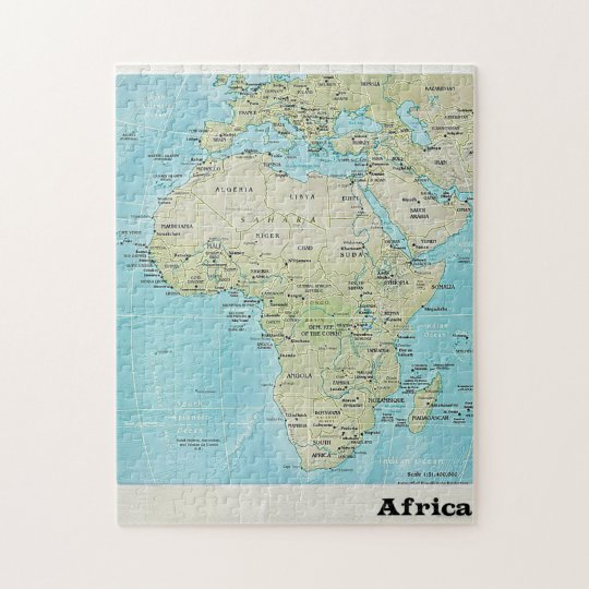 Africa Geography Map: A Jigsaw Puzzle