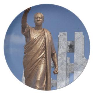 Africa, Ghana, Accra. Nkrumah Mausoleum, final Party Plate