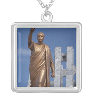 Africa, Ghana, Accra. Nkrumah Mausoleum, final Silver Plated Necklace