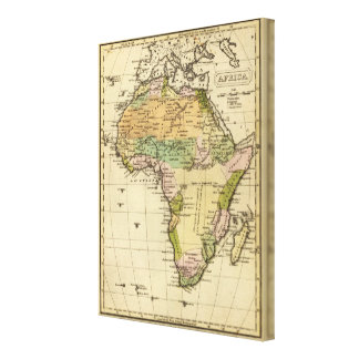 Africa Hand Colored Atlas Map Canvas Print