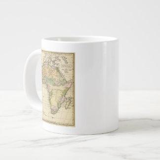 Africa Hand Colored Atlas Map Large Coffee Mug