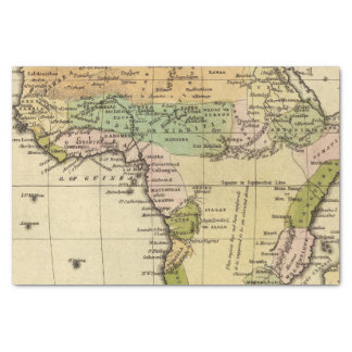 Africa Hand Colored Atlas Map Tissue Paper