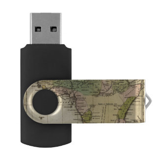 Africa Hand Colored Atlas Map USB Flash Drive