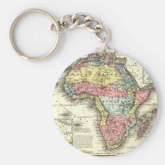 Africa in 1867 key ring