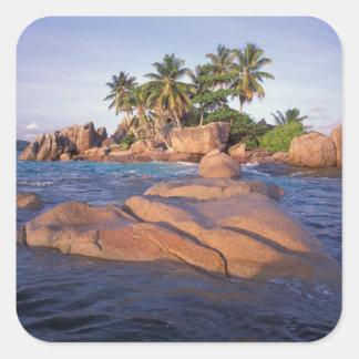 Africa, Indian Ocean, Seychelles, Praslin Square Sticker