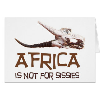 Africa is not for sissies: African Springbok skull Greeting Cards