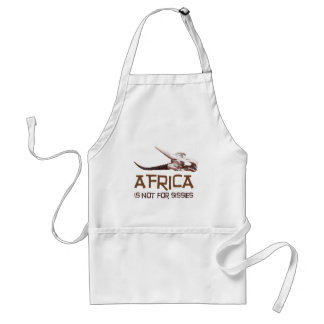 Africa is not for sissies: African Springbok skull Standard Apron