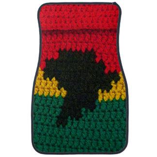 Africa Jamaican Crochet on Car Mat, Front Set of 2 Car Mat