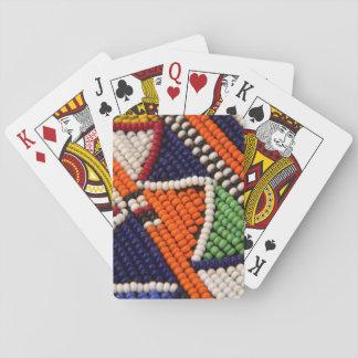 Africa, Kenya. Maasai Tribal Beads Playing Cards