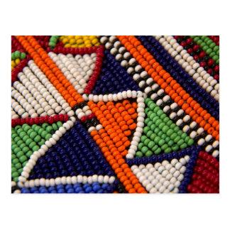 Africa, Kenya. Maasai Tribal Beads Postcard