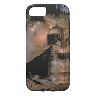 Africa, Kenya, Masai Mara. Common hippopotamuses iPhone 8/7 Case