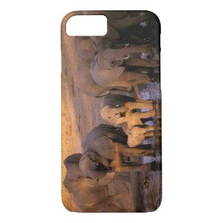 Africa, Kenya, Masai Mara. Elephants (Loxodonta iPhone 8/7 Case