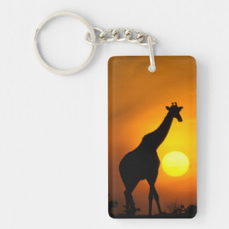 Africa, Kenya, Masai Mara. Giraffe (Giraffe Key Ring