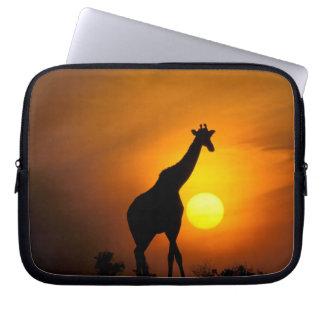 Africa, Kenya, Masai Mara. Giraffe (Giraffe Laptop Sleeve