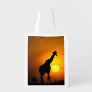 Africa, Kenya, Masai Mara. Giraffe (Giraffe Reusable Grocery Bag