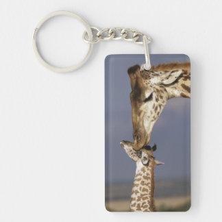 Africa, Kenya, Masai Mara. Giraffes (Giraffe Key Ring