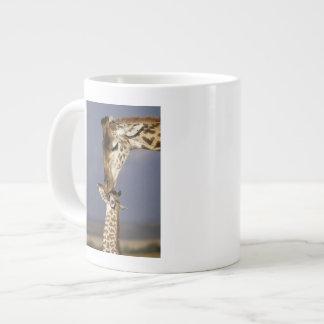 Africa, Kenya, Masai Mara. Giraffes (Giraffe Large Coffee Mug