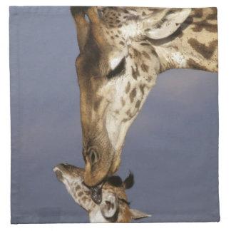 Africa, Kenya, Masai Mara. Giraffes (Giraffe Napkin