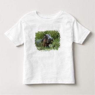 Africa, Kenya, Masai Mara NR. A mother hippo and Toddler T-Shirt