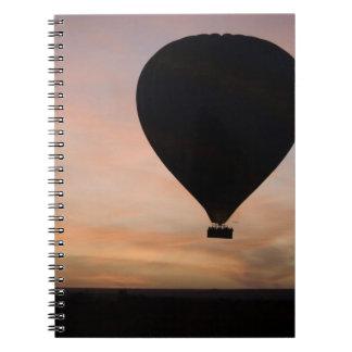 Africa, Kenya, Masai Mara. Two balloons glide Notebook