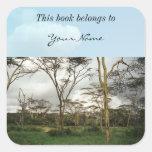 Africa Kenya wild land Square Sticker