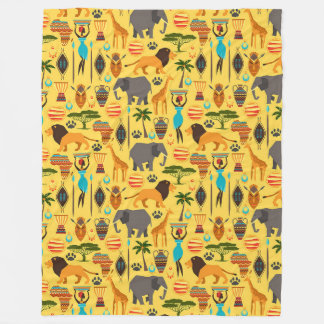 Africa Large Fleece Blanket