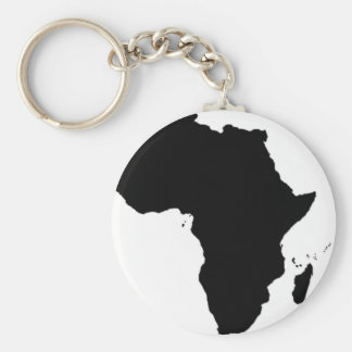 Africa love basic round button key ring