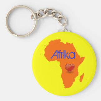 Africa Love Keychain