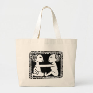 Africa - loving couple large tote bag