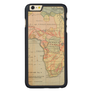 AFRICA: MAP, 1894 CARVED MAPLE iPhone 6 PLUS CASE