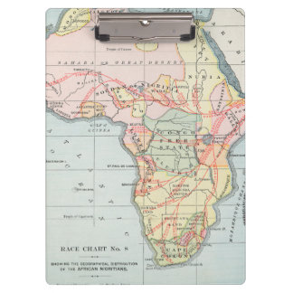 AFRICA: MAP, 1894 CLIPBOARD