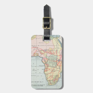 AFRICA: MAP, 1894 LUGGAGE TAG