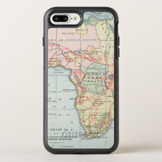AFRICA: MAP, 1894 OtterBox SYMMETRY iPhone 8 PLUS/7 PLUS CASE