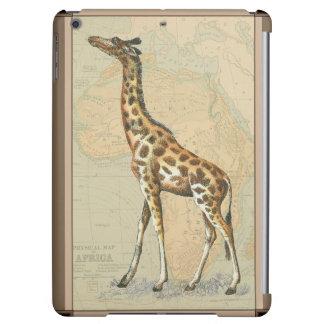 Africa Map and a Giraffe