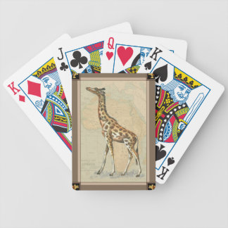 Africa Map and a Giraffe Bicycle Playing Cards