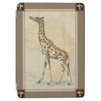 Africa Map and a Giraffe iPad Air Cover