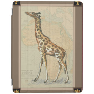 Africa Map and a Giraffe iPad Cover