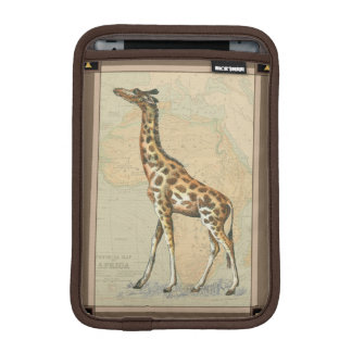 Africa Map and a Giraffe iPad Mini Sleeve