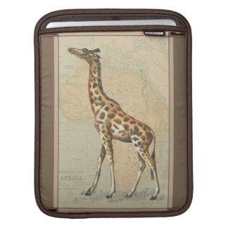 Africa Map and a Giraffe iPad Sleeve